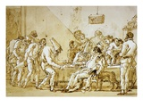 Clowns 89 Giclee Print by Giovanni Battista Tiepolo