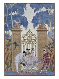 Colombine Reproduction proc&#233;d&#233; gicl&#233;e par Georges Barbier