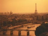 Paris and Eiffel Tower Photographic Print by Tibor Bognár