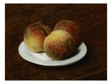 Three Peaches On a Plate Giclee Print by Henri Fantin-Latour