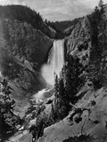 Lower Falls in the Grand Canyon of the Yellowstone Fotografie-Druck
