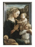 Madonna and Child with Angels Lámina giclée por Filippo Lippi