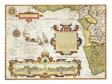 Map of Western Africa by Arnold Florent van Langren after Jan Huygen van Linschoten Giclee Print by Stapleton Collection