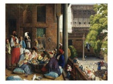 The Midday Meal, Cairo, Egypt Giclée-Druck von John Frederick Lewis
