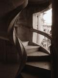 Spiral Stone Staircase in Convento de Cristo Reproduction photographique par John & Lisa Merrill