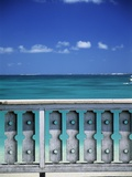 Railing next to the Beach Photographic Print by Macduff Everton