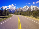 Road Winding to Grand Teton Photographic Print by Robert Glusic
