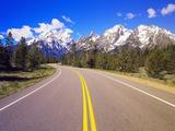 Road Winding to Grand Teton Photographic Print by Robert Glusic