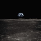 Earth Rising Above the Moon Fotografie-Druck