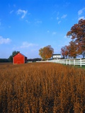 Farm in Autumn Photographic Print by Bruce Burkhardt