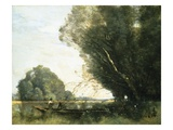 Punting Giclee Print by Jean-Baptiste-Camille Corot