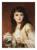 Portrait of a Girl Giclee Print by Frank Bernard Dicksee