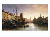 A View of Amsterdam, the Netherlands Giclee Print by Charles Euphrasie Kuwasseg