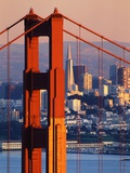Golden Gate Bridge and San Francisco Skyline Fotografiskt tryck av Paul Souders