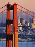 Puente Golden Gate y vista de San Francisco Lámina fotográfica por Paul Souders