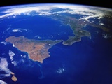 Sicily and Lower Italy from Space Shuttle Columbia Photographie