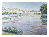 Houses on the Lake in Boitsfort Giclee Print by Paul Mathieu