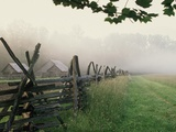 Morning Fog on a Mountain Farm Photographic Print by Gary W. Carter