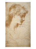 Portrait of a Young Woman Giclee Print by Edward Burne Jones