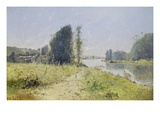 The Banks of the Yonne River, France Giclée-Druck von Victor Viollet-Le-Duc