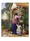 The Bird Cage Giclee Print by Myles Birket Foster
