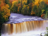 Joseph Sohm - Tahquamenon Falls in Autumn Fotografická reprodukce