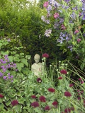 Small Statue in a Back Garden Papier Photo par Mark Bolton