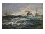 The First Battle Squadron of Dreadnoughts Steaming down the Channel Giclee Print by William Lionel Wyllie