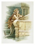 The Little Mermaid Giclee Print by Eddie J. Andrews