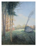 Country Landscape by Julian Alden Weir Giclee Print by Geoffrey Clements