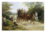 The London Coach Premium Giclee Print by Heywood Hardy
