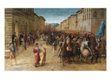 Entrance of Charles VIII in Florence Giclee Print by Francesco Granacci