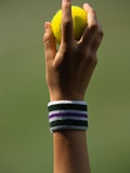 Hand of a Wimbledon Ball Boy Holding a Tennis Ball Photographic Print by Michael Cole
