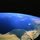 Eastern Mediterranean Sea from Space Photographic Print