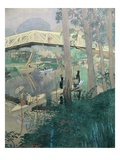 A Day's Fishing, near Paris, France Giclee Print by Ernst Matthes