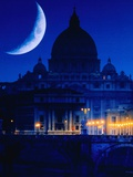 St. Peter's Basilica at Night Photographic Print by Jean-pierre Lescourret