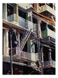 Soho Fire Escapes Giclee Print by Patti Mollica