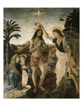 Baptism of Christ Giclee Print by Leonardo and Andrea da Vinci and del Verrocchio