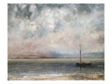 Clouds on Lake Leman Giclee-trykk av Gustave Courbet