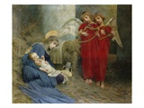 Angels and Holy Child Giclee Print by Marianne Stokes