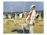 The Seaside Giclee Print by Francois Flameng