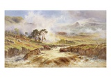 A Stormy Landscape Premium Giclee Print by Robert Gallon