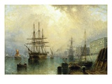 H.M.S. War Sprite off Greenwich, London Giclee Print by Claude T. Stanfield Moore