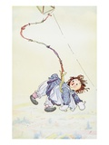 Raggedy Ann Stories: Raggedy Ann Flying Giclee Print by Johnny Gruelle