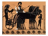 Departure of Iolas in a Chariot, Assisted by Athena, for the Games Given in Honor of Pelias Print b Giclee Print by Gianni Dagli Orti
