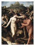 Hercules and the Muses Reproduction procédé giclée par Alessandro Allori