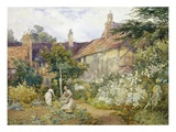 A Garden at Warwick Giclee Print by George Hodgson