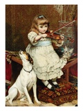 The Broken String Premium Giclee Print by Charles Burton Barber