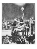 Between Rounds Giclee Print by George Wesley Bellows