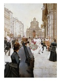 The Carnival Giclee Print by Franz Gailliard